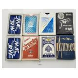 (8) Vintage Playing Cards - Aviator, Piedmont, Str