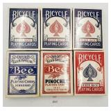 Vintage Playing Cards - Bicycle Poker 808, Poker 9