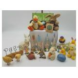 Springtime Easter Decor Resin Rabbits, Ducklings,