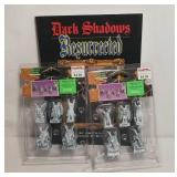 Lemax Spooky Town Gargoyles Set of 5 (2) & Dark Sh