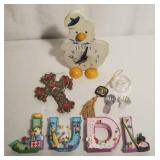 Cast Resin JUDI Letters, Quartz Duck Clock +