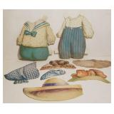 Vintage Paper Doll Clothes & Hats