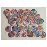 Cardboard Marvel Comic Bottle Top Pogs Collectible