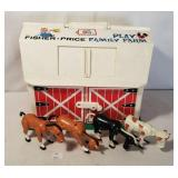 Fisher-Price Toys 1967 Play Family Farm w Some Ani