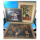 Lot of 3 pieces of art, including a Glynda Turley