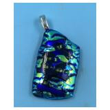 art glass pendent             (P 22)