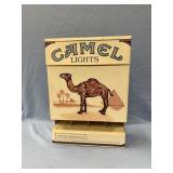 Camel Light cardboard cigarette dispenser, 14 in.