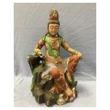 Hand carved wooden figurine of a Indian deity 16 i