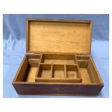 Wooden selling box 11 in. across                (P
