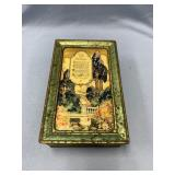 vintage chocolate box with decoupaged lid commemor