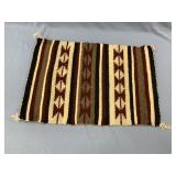 An authentic Navajo Blanket made from wool. Approx