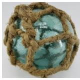 A gorgeous Japanese fishing net float with origina