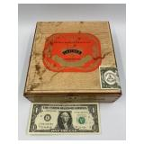 Cigar box with The Ultimate but Goodies cd collect