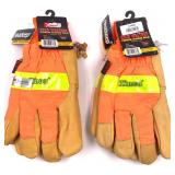 Two pair of Kinco cold weather work gloves with pi