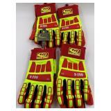 Four pair of unused ringers heavy duty work gloves