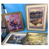 """Lot of 4 framed prints including """"Everlasting Sanc"""