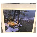 """Stephen Lyman signed and numbered print, """"Warmed b"""