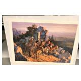 """Howard Terpning signed and numbered print, """"Gold S"""