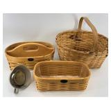 Assorted picnic baskets, 2 are from Peter borough