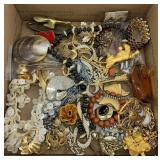 Nice lot of fashion jewelry including brass glove