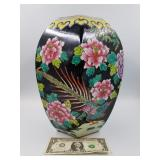 """Hand painted tall Chinese vase 12 1/2"""""""