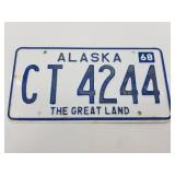 1968 Alaska license plate. Condition is 90%