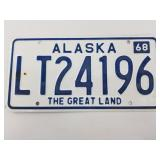 1968 Alaska license plate. Condition is 95%