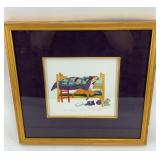 """Rie Munoz signed and numbered print, """"Family Dog"""""""