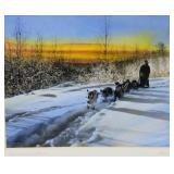 "Sydney Lawrence illustrated signed photograph ""Dog"