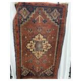 "Hand woven rug 67"" x 40""             (P 65)"