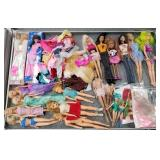Case lot of dolls mostly Barbie style, Case not in