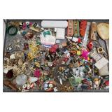 Case lot with fashion jewelry, collection of light
