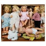 Case lot of dolls and figurines                  (
