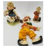 Lot of 3: 2 Hummel style figurines made in Japan a