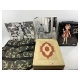 Lot with canvas insulated bag 2 photos, partial si