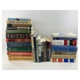 """Box lot of books including """"His Own Story"""" by Muss"""