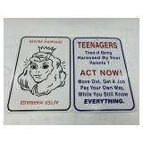 Lot of 2 humorous signs            (700)