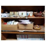 Shelf lot mini trunks with doll clothes, cd