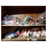 Shelf lot flexi mini figurines toys,
