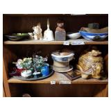 Shelf lot with            hand made seal, seal bow
