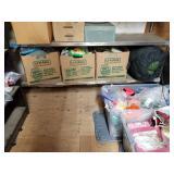 3 boxes wit kitchen stuff, glass jars, decorated c