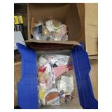 2 boxes full with doll clothes and doll accessorie