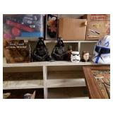 Star wars collection, trivial pursuit, lamps, cups