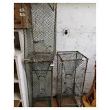 Lot of 3 metal frame shrimp or crab traps