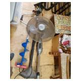 Lot with 3 items, lamp stand,                  (P