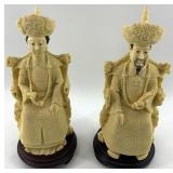 2 Gorgeous resin figurines of Chinese Royalty abou