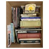 Box lot with misc. books, gun books, etc.