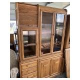 Lot of 2 pieces of furniture one is a China hutch