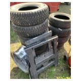 Large lot with different size tires,  snow radial