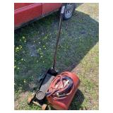 Lot with portable air tank, floor jack 3 ton
